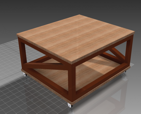 CNC-Tisch als CAD-Modell