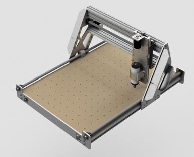 CNC-Maschine konstruiert mit Fusion360