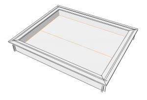 Der Sandkasten wurde mit Sketchup modelliert