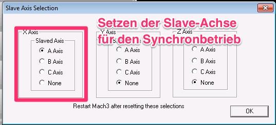 Mach3. Slave-Achse