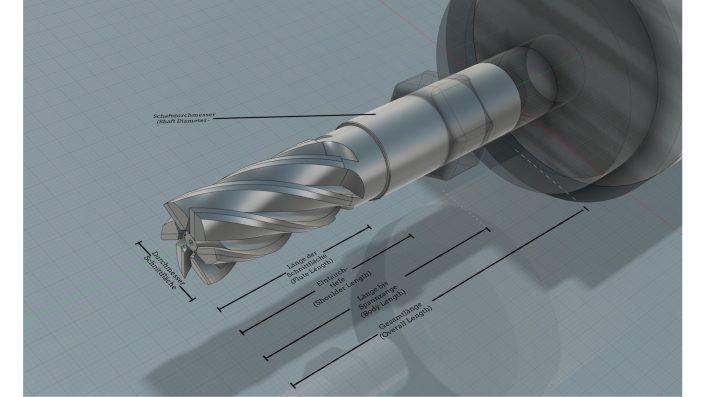 Anatomie des Fräsers in Fusion260