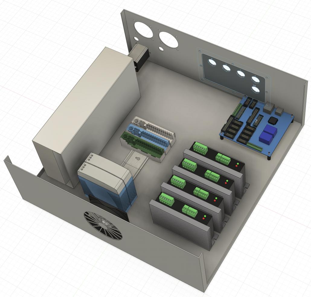 CNC-Schaltschrank neues Layout