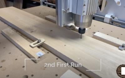 Erfolgreicher Zweiter Erstlauf der CNC-Maschine